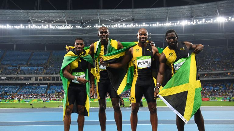 Bolt won relay gold alongside Jamaica team-mates Yohan Blake, Asafa Powell and Nickel Ashmeade