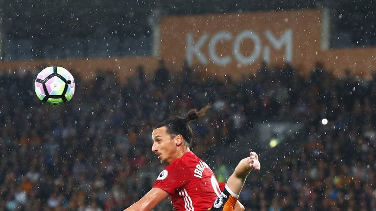 Zlatan Ibrahimovic has arrived in England with four goals in four games