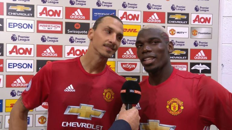 Zlatan Ibrahimovic and Paul Pogba are developing a good understanding