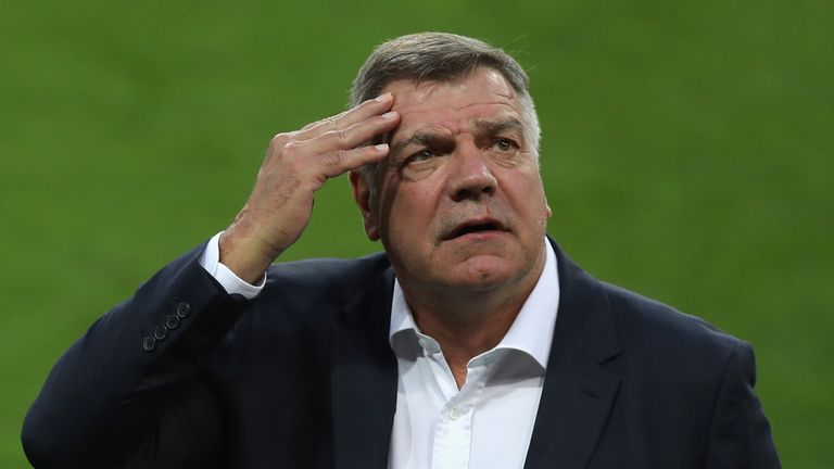 Sam Allardyce was England boss for the World Cup qualifying win over Slovakia