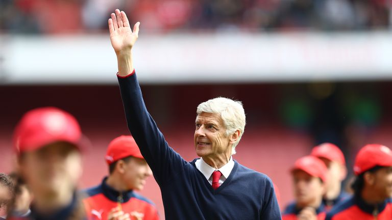 Wenger joined the club in 1996, and has won three Premier League titles