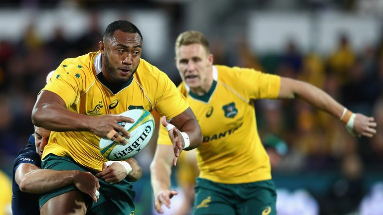 Sekope Kepu takes the ball up for the Wallabies