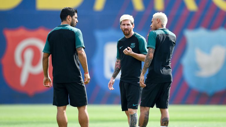 Rodgers also says Barca trio Suarez, Lionel Messi and Neymar could be the best front three of all time