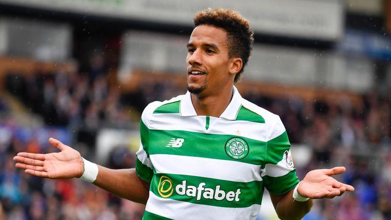 Celtic's Scott Sinclair celebrates his goal at Inverness