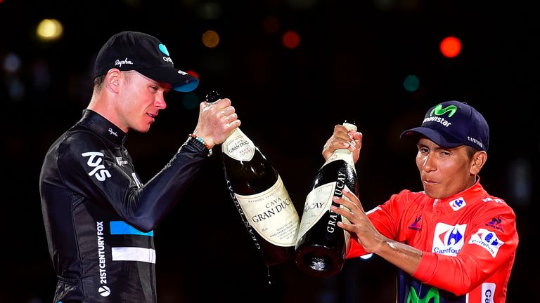 Chris Froome congratulated Quintana on his victory