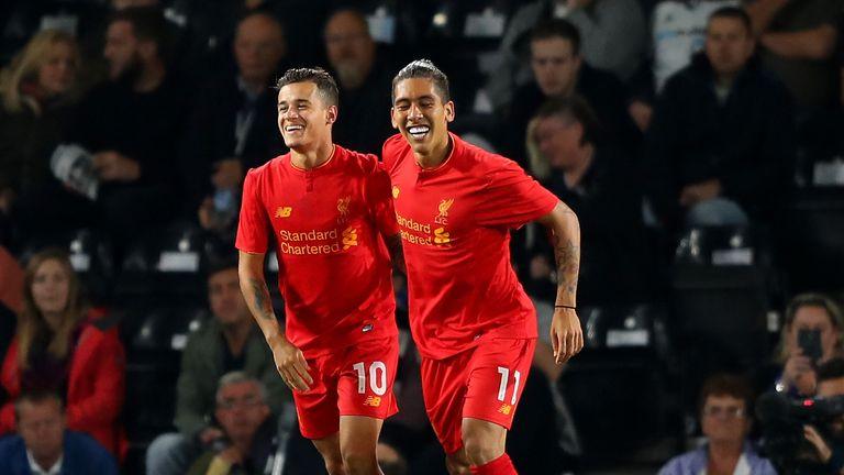Philippe Coutinho and Roberto Firmino have travelled furthest for Liverpool
