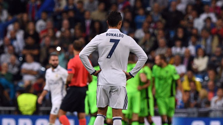 Real Madrid's Cristiano Ronaldo has enjoyed less success with the dead ball in recent seasons
