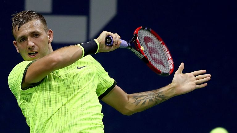 Dan Evans joined fellow Britons Andy Murray and Kyle Edmund in the third round at Flushing Meadows