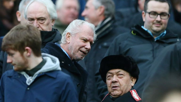 A phone call from David Sullivan (right) helped convince Fletcher to join West Ham in the summer