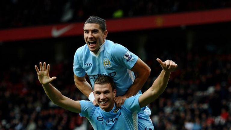 Dzeko enjoyed some fine moments for Manchester City - including a double in the 6-1 win at Manchester United in 2011