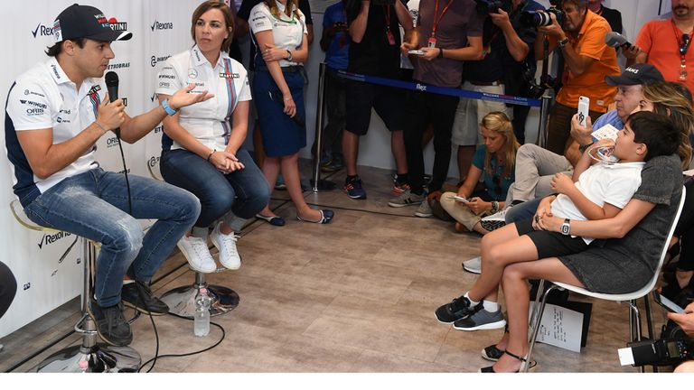 With his family in the front row of his press conference, Felipe Massa announces his F1 retirement