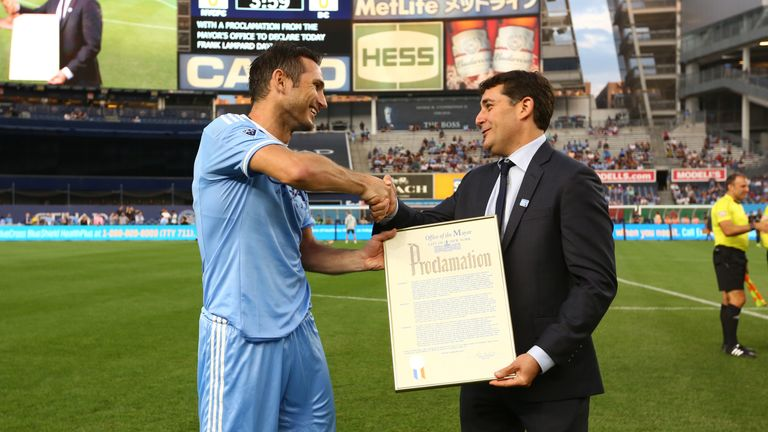 Lampard scored his 300th career goal while playing for New York City