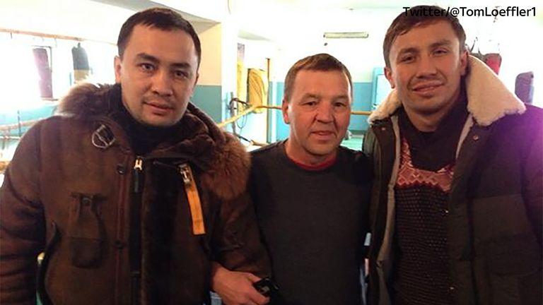 Max Golovkin (L) & GGG (R) via Twitter @TomLoeffler1