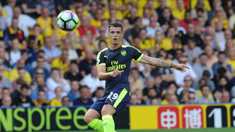 Wenger says Granit Xhaka is getting better every week