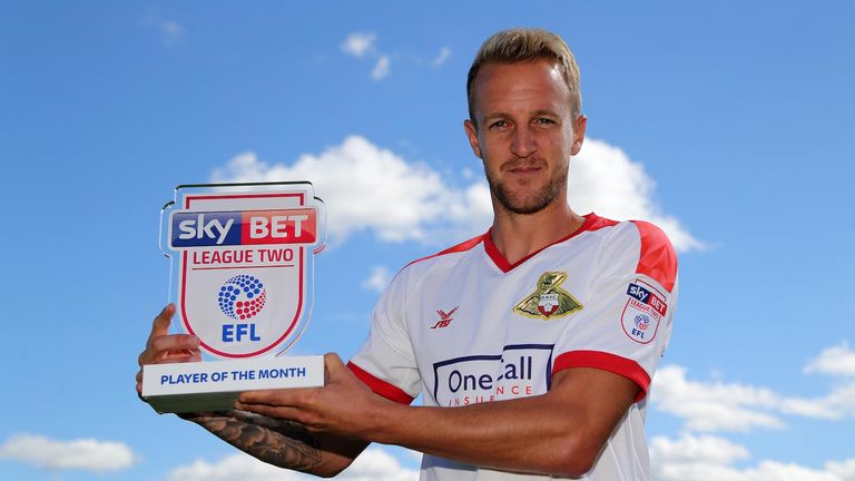 James Coppinger is the Sky Bet League Two Player of the Month
