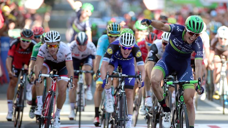 Jens Keukeleire sprinted to victory on stage 12