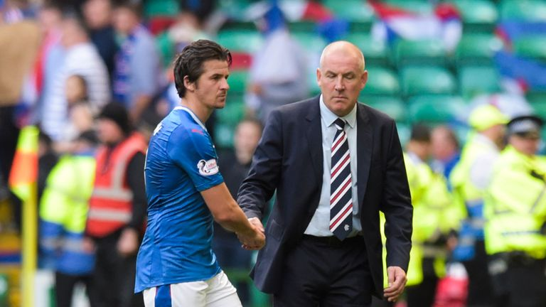 Barton fell out with Warburton following Rangers' defeat in the Old Firm derby