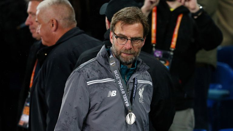 Liverpool were 1-0 up at half-time of last season's Europa League final against Sevilla