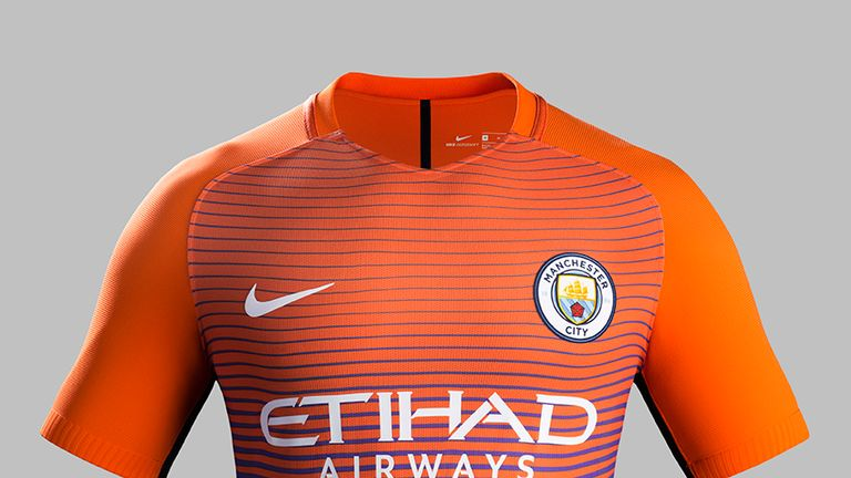 A closer look at Manchester City s orange and violet third kit by Nike 2fb802a3c