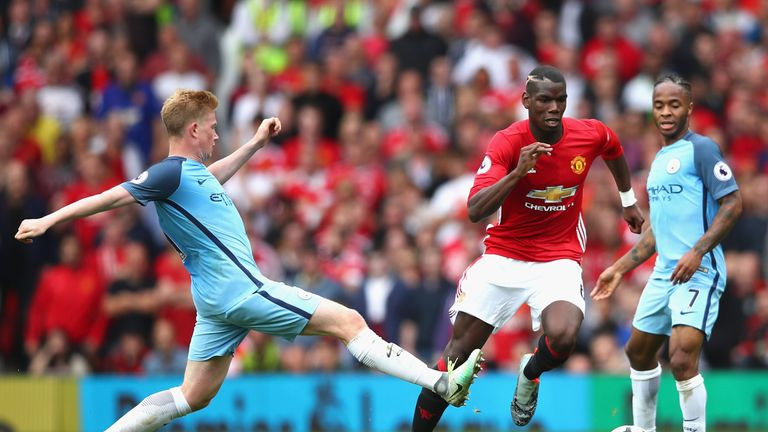 Paul Pogba is the only United player to run over 10km in every appearance so far