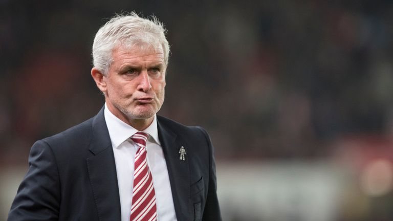 Mark Hughes' side are bottom of the Premier League
