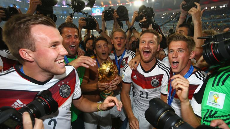 Germany are the current World Cup holders having won in Brazil in 2014