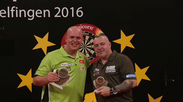 Van Gerwen defeated Peter Wright in the final