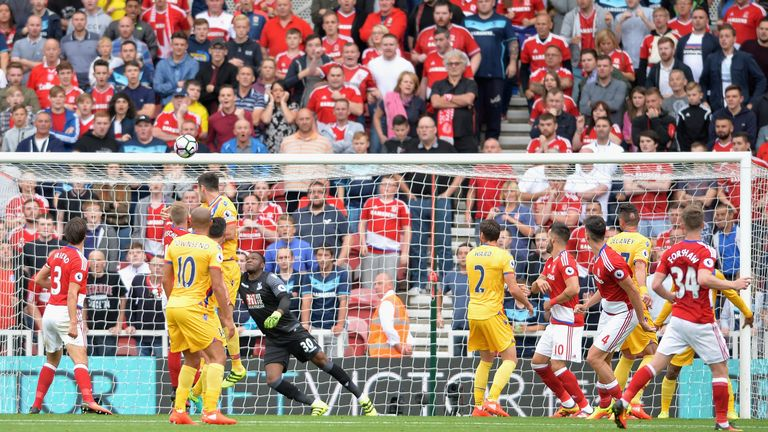 Daniel Ayala equalised for Middlesbrough in the 38th minute