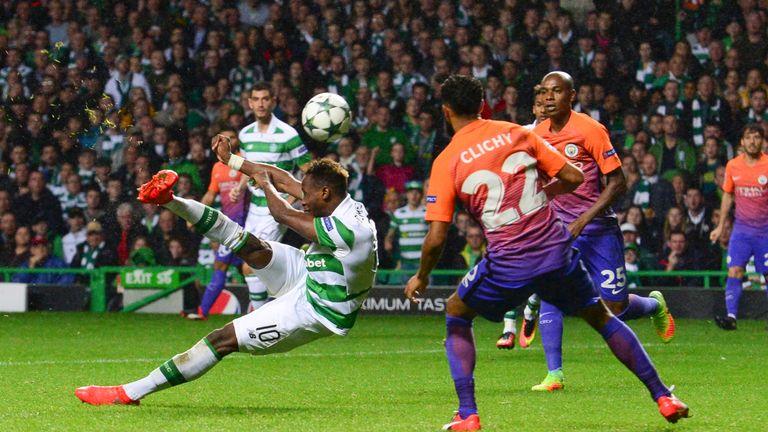 Dembele scores Celtic's third goal against Man City