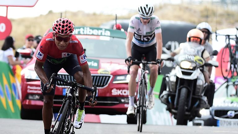 Quintana finished just ahead of Froome on stage 20