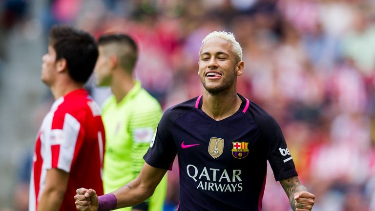 Neymar has netted 14 times in 35 appearances for Barca this season