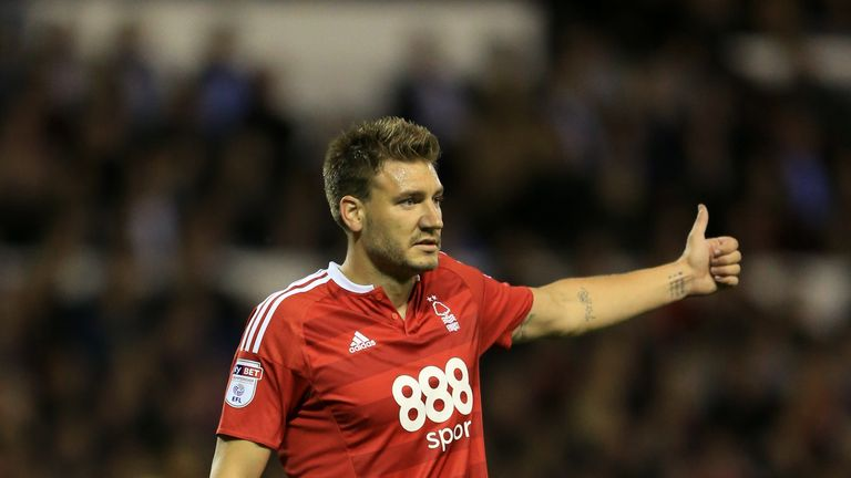 Nicklas Bendtner had said he had returned to full training with Nottingham Forest on Saturday