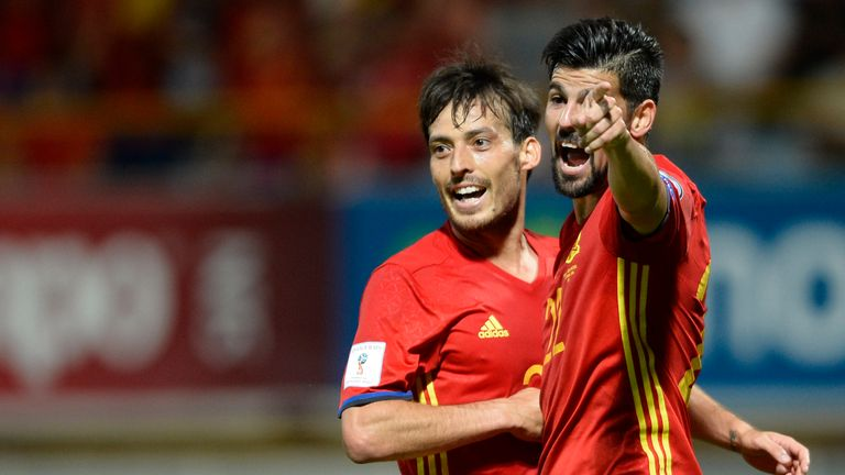 David Silva appeared for Spain, but City team-mate Nolito was an unused substitute