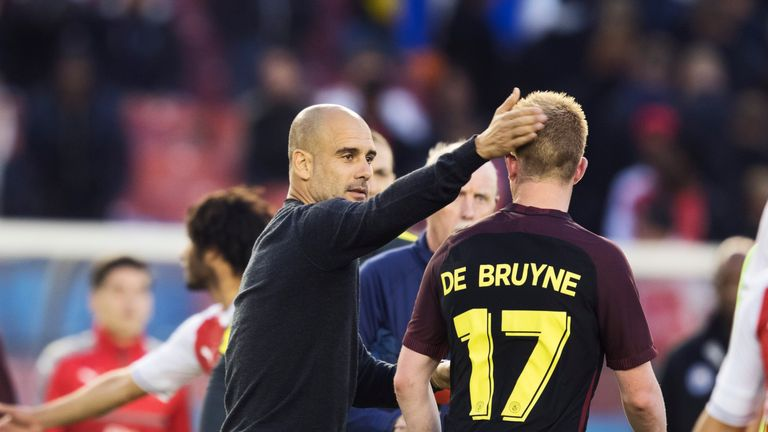 Man City boss Pep Guardiola has switched De Bruyne to a central position this season