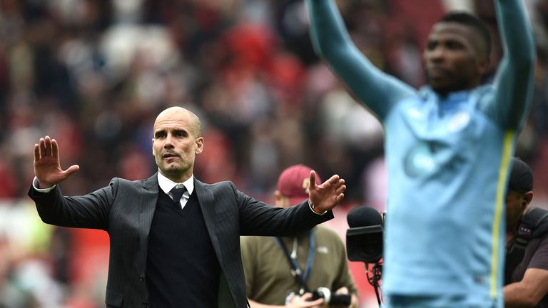 Pep Guardiola has won his first four Premier League games as Manchester City manager