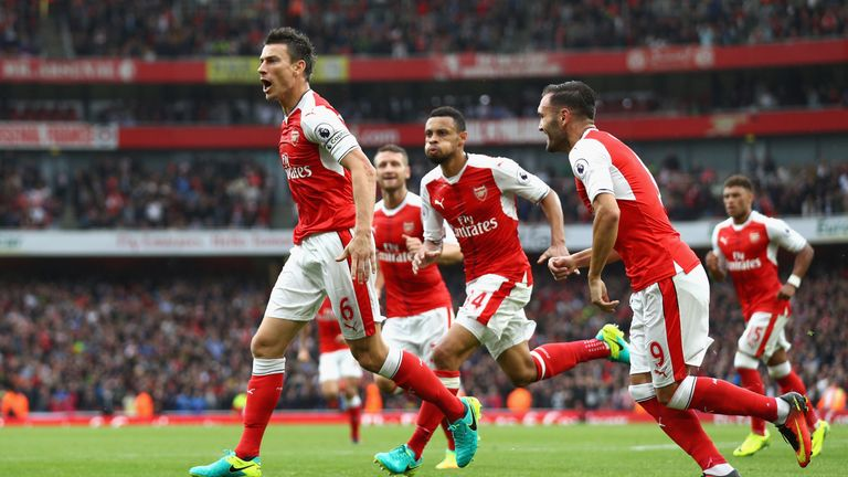 Koscielny has acted as captain for Arsenal in the absence of Per Mertesacker