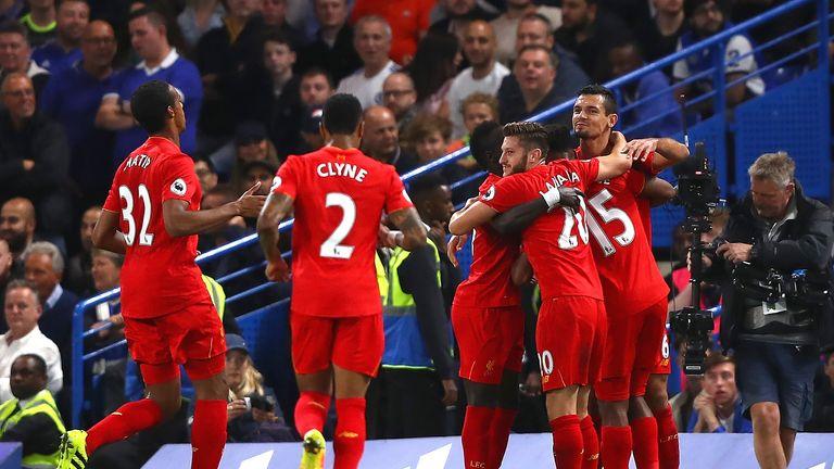 Lovren celebrates scoring the first goal of the game