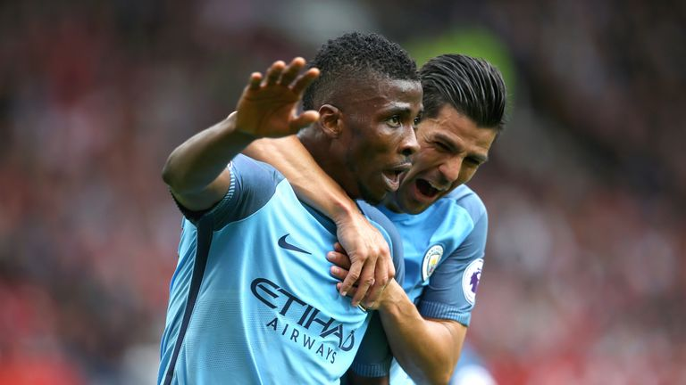 Kelechi Iheanacho has scored three goals for Manchester City so far this term