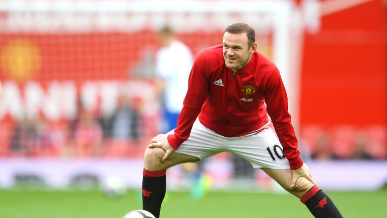 Wayne Rooney was dropped for the clash at Old Trafford