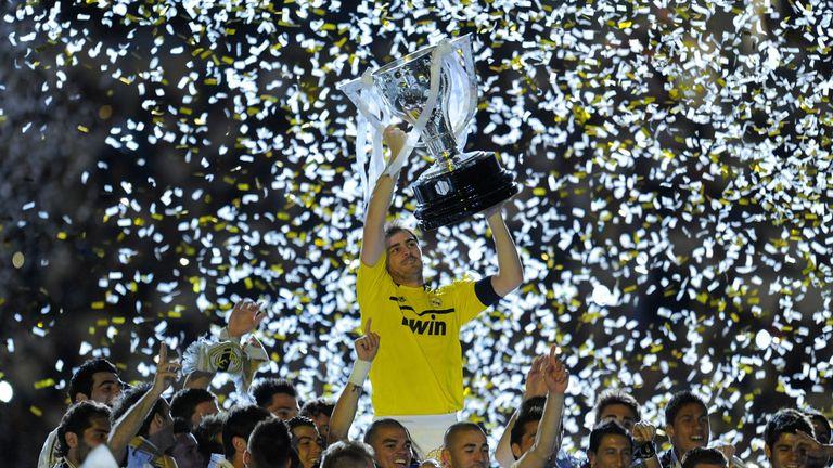 Casillas won five La Liga titles and the Copa del Rey twice