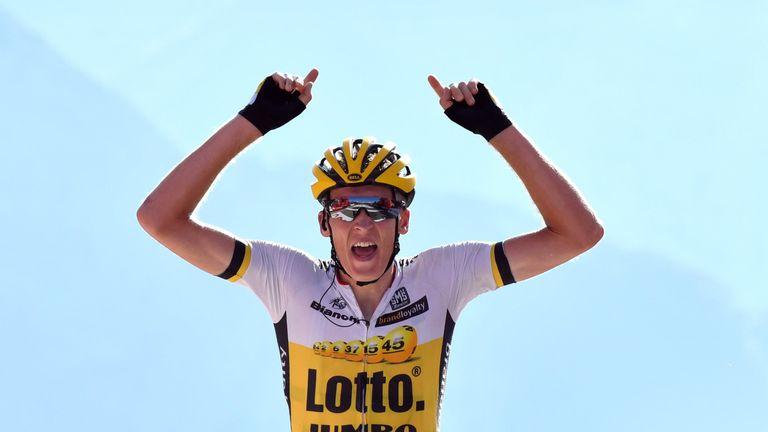 Robert Gesink won stage 14