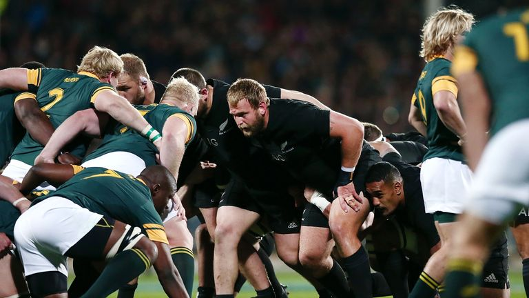 New Zealand dominated the South African scrum