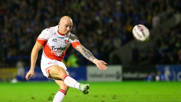 Luke Walsh gave St Helens the lead with the final kick of the first half
