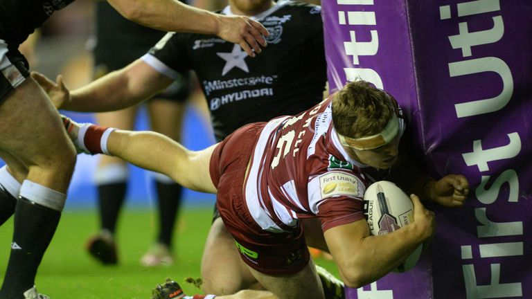 Sam Powell powers over to put Wigan back in front