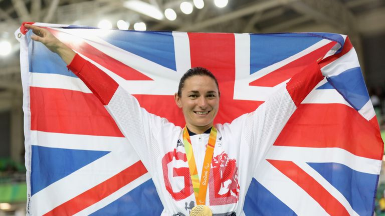 Dame Sarah Storey won Paralympic GB's 35th gold medal in the women's C5 3000m
