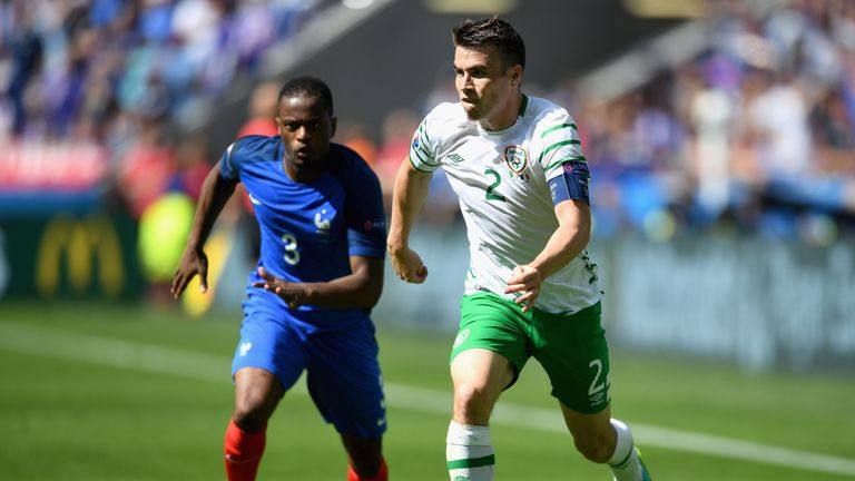 Seamus Coleman in action for the Republic of Ireland