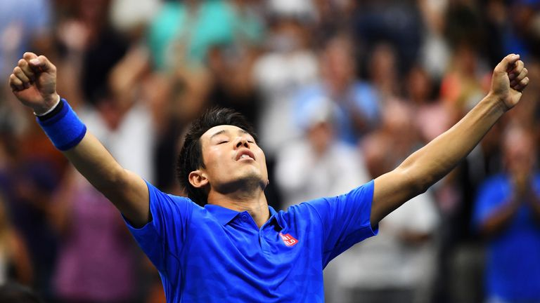 The Japanese star revels in his amazing win