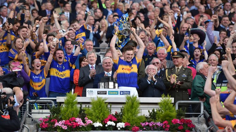 Tipperary captain Brendan Maher lifts the Liam MacCarthy Cup
