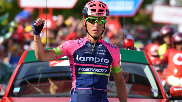 Valerio Conti won stage 13 out of the breakaway