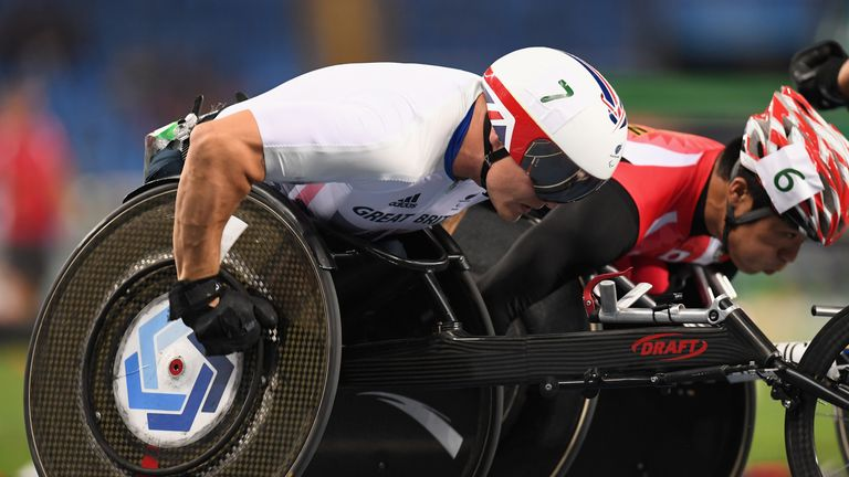 David Weir forced to bow out at the Paralympics in Sunday's marathon